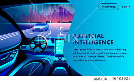 Artificial Intelligence Car Cockpit Landing Page 46433926