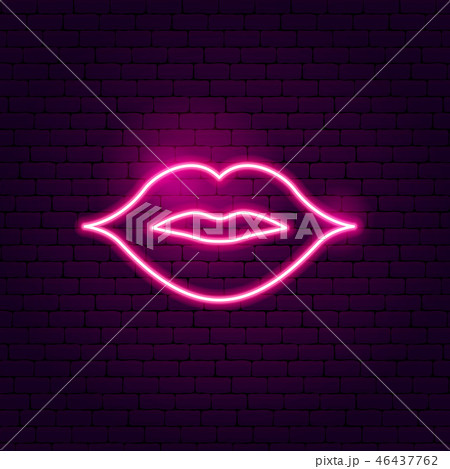 Kiss Lips Neon Sign 46437762
