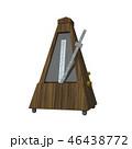 3D rendering illustration metronome on white background 46438772