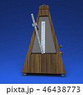 3D rendering metronome on light blue background 46438773