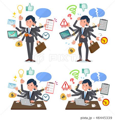 flat type Gray suit businessman_mulch task Office 46445339