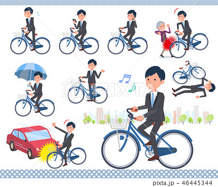 flat type Gray suit businessman_city cycle 46445344