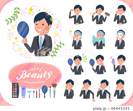 flat type Gray suit businessman_beauty 46445345
