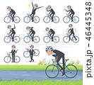 男性 ビジネスマン 自転車のイラスト 46445348