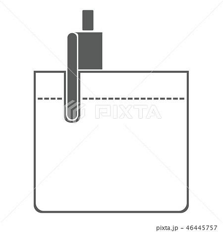 胸ポケット ペン キャップ イラスト アイコン 46445757