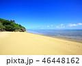 小浜島 ビーチ 青空の写真 46448162