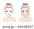 フェイスパック スキンケア 美肌のイラスト 46448497