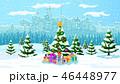 クリスマス 街並み ゆきのイラスト 46448977