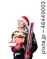 人 サンタの帽子 サンタ帽の写真 46449003