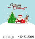 Christmas Greeting Card with Santa Claus 46451509