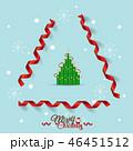 Christmas Greeting Card with Christmas tree 46451512
