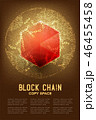 ブロックチェーン 技術 ブロックのイラスト 46455458