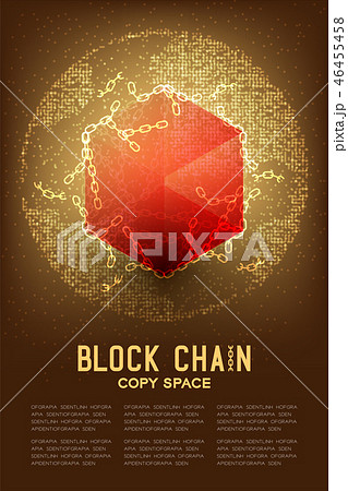 Blockchain technology 3D isometric virtual 46455458