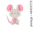 鼠 ねずみ マウスのイラスト 46455775