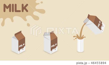 Milk box UHT (ultra-high temperature-treated milk) 46455894