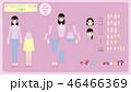 アニメーション用人物素材/成人女性/私服1/正面/TypeA/ 46466369