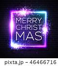 ネオン クリスマス ベクターのイラスト 46466716