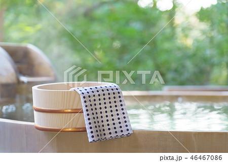 露天風呂  旅館 温泉イメージ 46467086