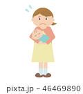 女性 育児 子育てのイラスト 46469890