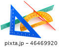 三角定規 三角形 三角の写真 46469920