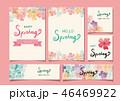 春 フレーム 花のイラスト 46469922