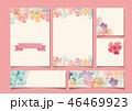 春 フレーム 花のイラスト 46469923