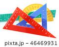 三角定規 三角形 三角の写真 46469931