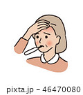 発熱 - 年配の女性 46470080