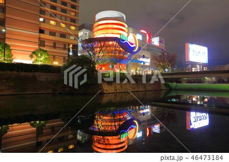夜のキャナルシティ博多 - CANAL CITY HAKATA (ライトアップされた夜のキャナル) 46473184