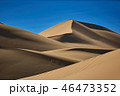 Sand dunes in the desert , warm dry sand under blue sky 46473352