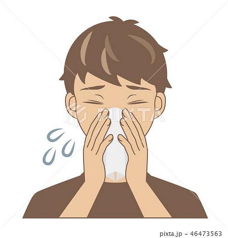 鼻をかむ男の子1 46473563