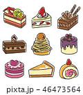 ケーキ 洋菓子 お菓子のイラスト 46473564