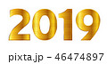 2019 数字 文字のイラスト 46474897