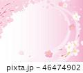 桜 春 桜吹雪のイラスト 46474902
