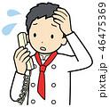 電話をするシェフ 46475369