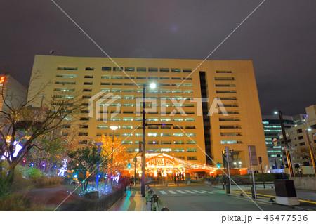 夜の福岡市市役所 福岡県福岡市中央区天神1丁目8-1 天神クリスマスマーケット 46477536