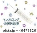 インフルエンザ 予防接種 予防注射のイラスト 46479326