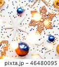 クリスマス 新年 平面図の写真 46480095