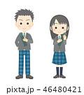卒業 高校生 中学生のイラスト 46480421