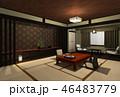旅館 和室 和のイラスト 46483779