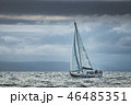 Lone touristic yacht in the sea. Northern Ireland. 46485351