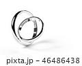 指輪 白背景 リングのイラスト 46486438