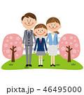 家族 笑顔 白バックのイラスト 46495000