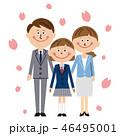 家族 笑顔 白バックのイラスト 46495001
