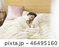 女性 睡眠 寝る  46495160