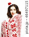 クリスマス 女性 メスの写真 46497115