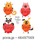 動物 かわいい キュートのイラスト 46497569