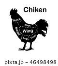 鶏 潰す カットのイラスト 46498498