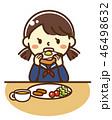 高校生 中学生 朝食のイラスト 46498632