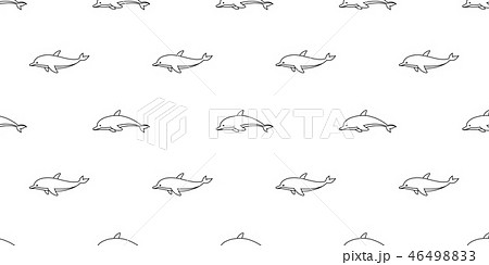dolphin seamless pattern vector fish whale shark  46498833